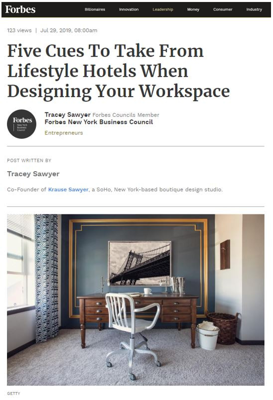 Sawyer & Company Shares Workspace Design Tips with Forbes