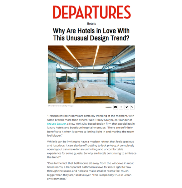 Sawyer & Company Shares Design Trend Insight with Departures Magazine