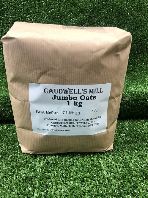 Jumbo Oats 1kg **Local Caudwell's Mill (Rowsley) Ltd
