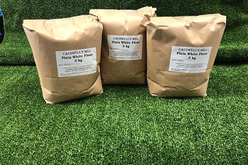 Plain Flour 3kg **Local Caudwell's Mill (Rowsley) Ltd