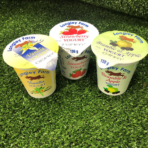 Longley Farm Fruit Yoghurts (Mixed Flavours)