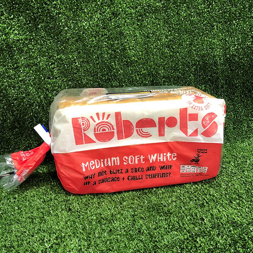 White Bread Loaf 800g Roberts Sliced