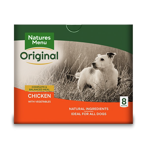 Natures Menu Dog Pouches - Adult Chicken 8x300g