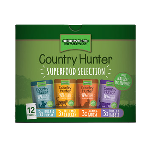 Country Hunter Wet Cat Food - Variety Pack (36 x 85g Pouches)