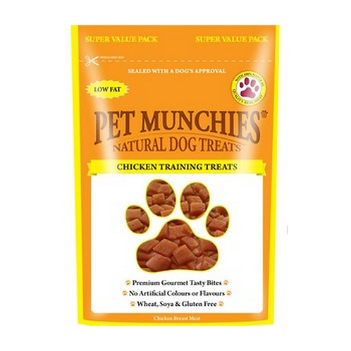 Pet Munchies Dog Training Treats - Chicken - 8 x 150g Bags