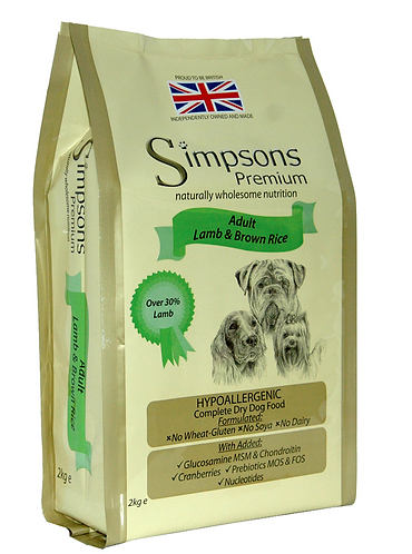 Simpsons Premium Adult Lamb & Rice 2kg