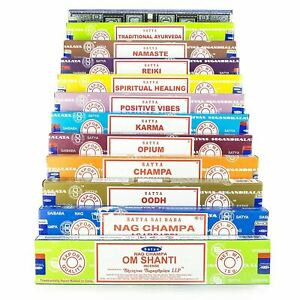 Genuine Satya Nag Champa Incense Sticks Mixed Fragrances