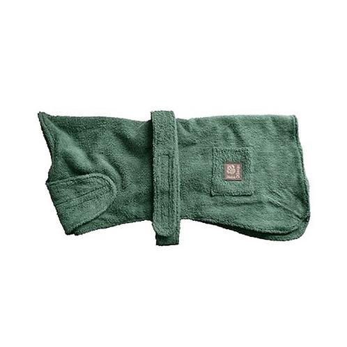 Danish Design Towelling Dog Robe - Green
