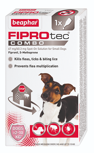 FIPROtec COMBO Spot On Solution for Small Dogs 2-10 kg