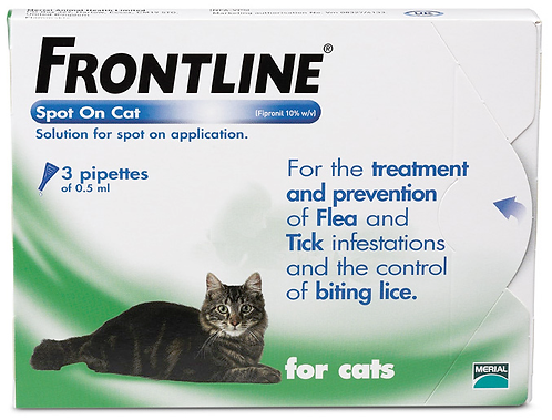 Frontline Cat Pipette (3 Treatment)