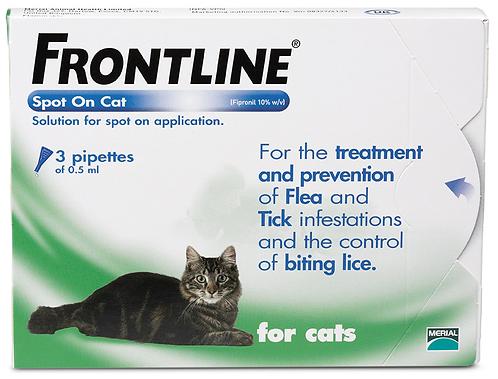 Frontline Cat Pipette (3 Treatment)