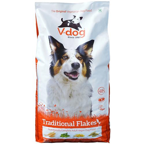 V-Dog Traditional Flakes Dry Dog Food 15kg