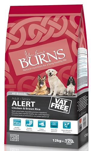 Burns Alert Chicken & Rice Dry Dog Food 12kg