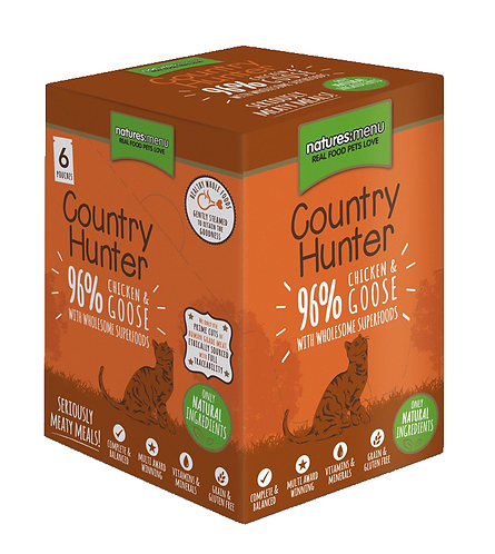 Country Hunter Wet Cat Food - Chicken & Goose (36 x 85g Pouches)