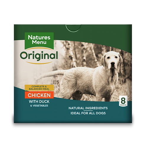 Natures Menu Dog Pouches - Adult Chicken & Duck 8x300g