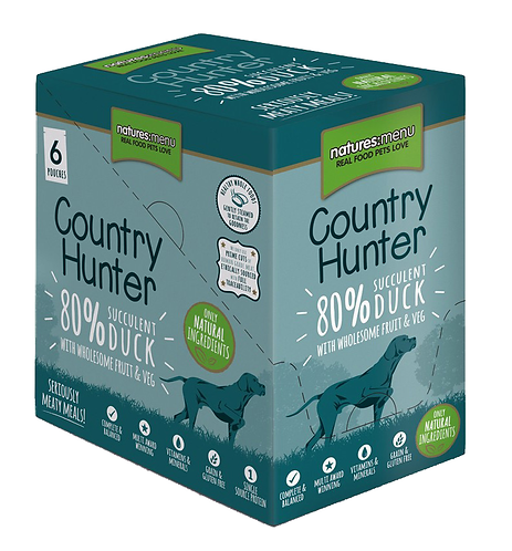 Country Hunter Wet Dog Food - Duck (36 x 150g Pouches)