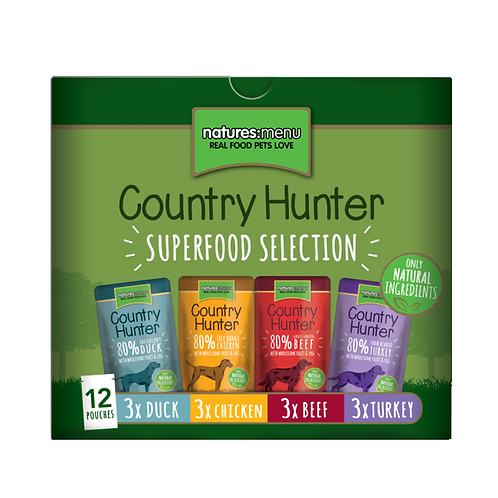Country Hunter Wet Dog Food - Variety Pack (36 x 150g Pouches)