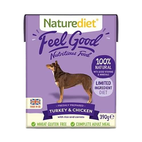 Naturediet Feel Good Adult Turkey & Chicken - 18 x 390g