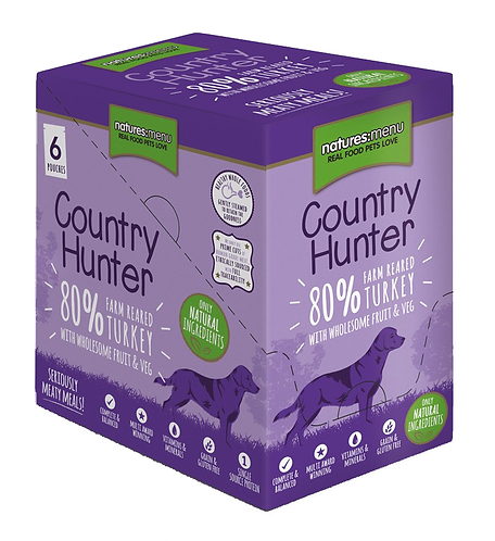 Country Hunter Wet Dog Food - Turkey (36 x 150g Pouches)