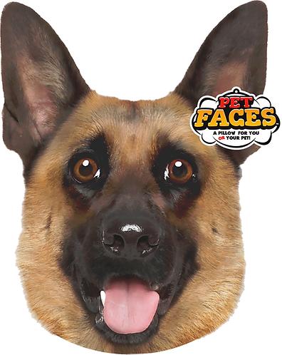 Pet Faces Soft Feel Novelty Cushion - German Shepherd