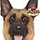 Thumbnail: Pet Faces Soft Feel Novelty Cushion - German Shepherd