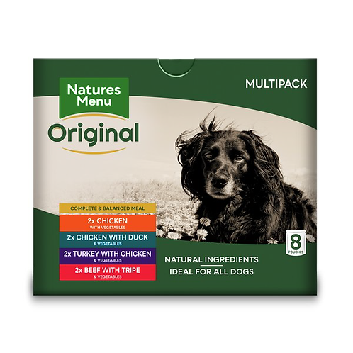 Natures Menu Dog Pouches - Adult Multipack 8x300g