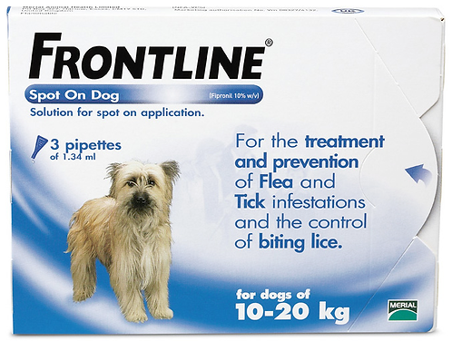 Frontline Medium Dog Pipette (3 Treatment) - 10 to 20kg