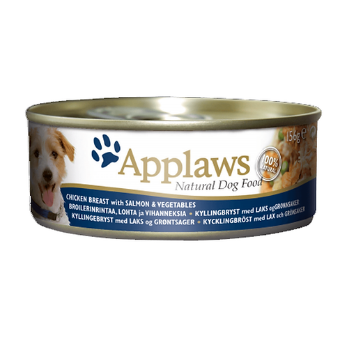 Applaws Dog Chicken Breast with Salmon & Veg - 12x156g Tins