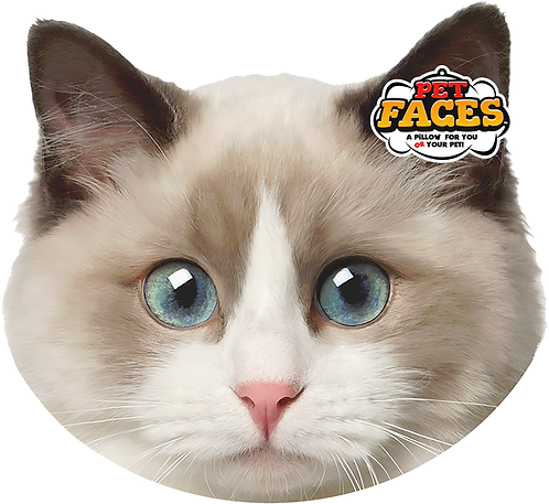 Pet Faces Soft Feel Novelty Cushion - Ragdoll Cat