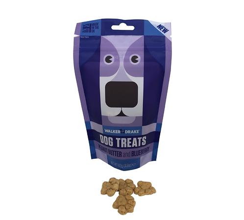 Walker and Drake Dog Treats - Peanut Butter & Blueberry - 10x100g