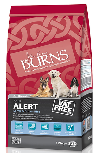 Burns Alert Lamb & Rice Dry Dog Food 12kg