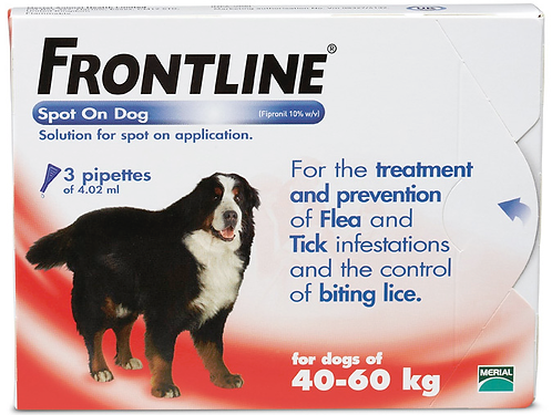 Frontline X-Large Dog Pipette (3 Treatment) - 40 to 60kg