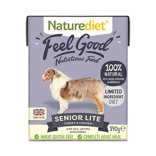 Naturediet Feel Good Senior/Lite Turkey & Chicken - 18 x 390g