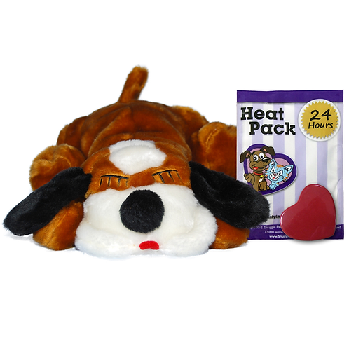 Snuggle Puppy Brown and White Calming Toy