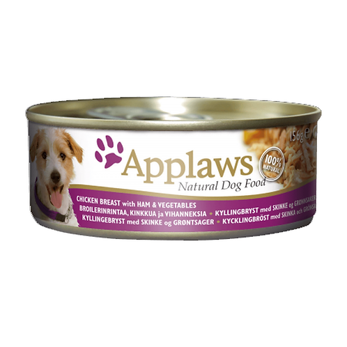 Applaws Dog Chicken Breast with Ham & Veg - 12x156g Tins
