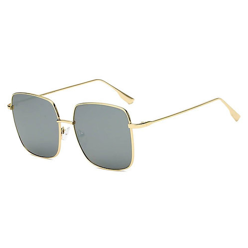 ENOCH | S2068 - Women Metal Flat Lens Square Sunglasses
