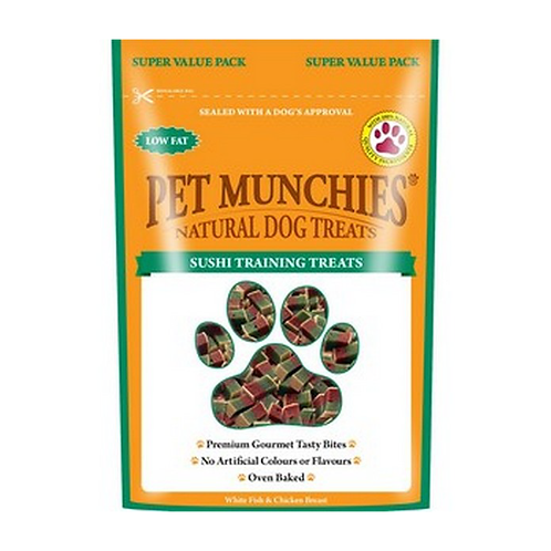 Pet Munchies Dog Training Treats - Sushi - 8 x 150g Bags