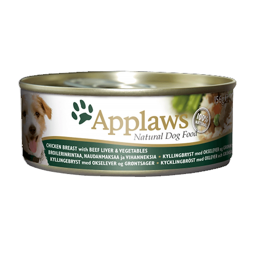 Applaws Dog Chicken Breast with Beef & Veg - 12x156g Tins