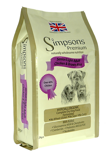 Simpsons Premium Senior/Light Chicken & Rice 12kg