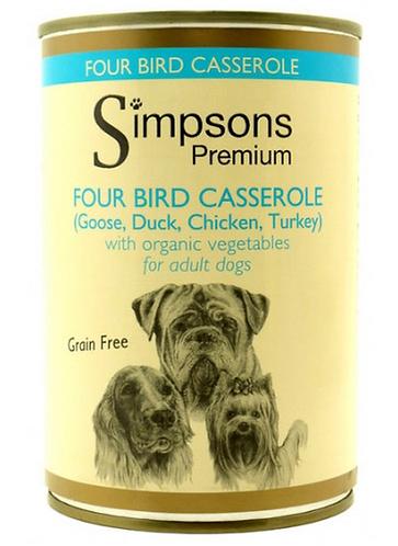 Simpsons Four Bird Casserole Tins - 6 Pack