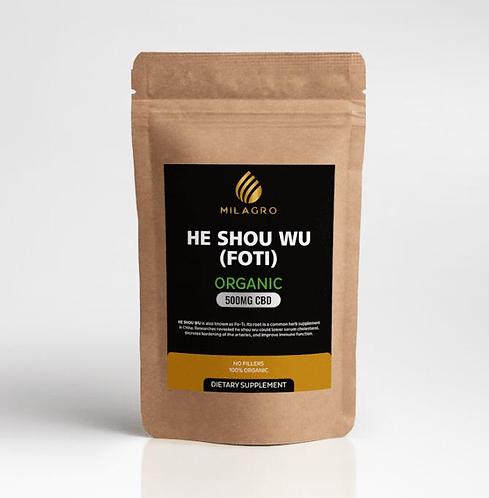 Milagro Hemp Organic He Shou Wu(FOTI) Powder - 500mg
