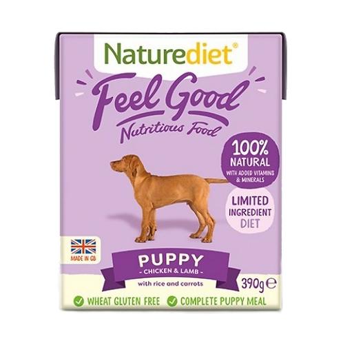 Naturediet Feel Good Puppy Chicken & Lamb - 18 x 390g