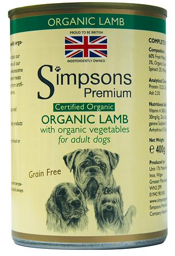 Simpsons Certified Organic Lamb Tins - 6 Pack