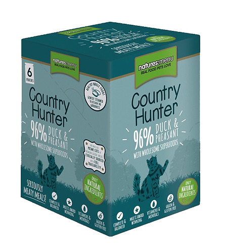 Country Hunter Wet Cat Food - Duck & Pheasant (36 x 85g Pouches)