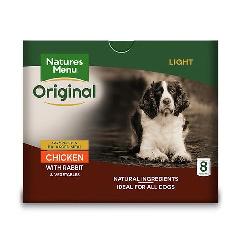 Natures Menu Dog Pouches - Adult Light Chicken & Rabbit  8x300g