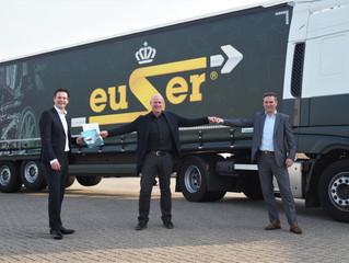 Koninklijke C. en H. Euser Transport in Barendrecht kiest voor 2 DAF CF Electric vrachtauto's via BE