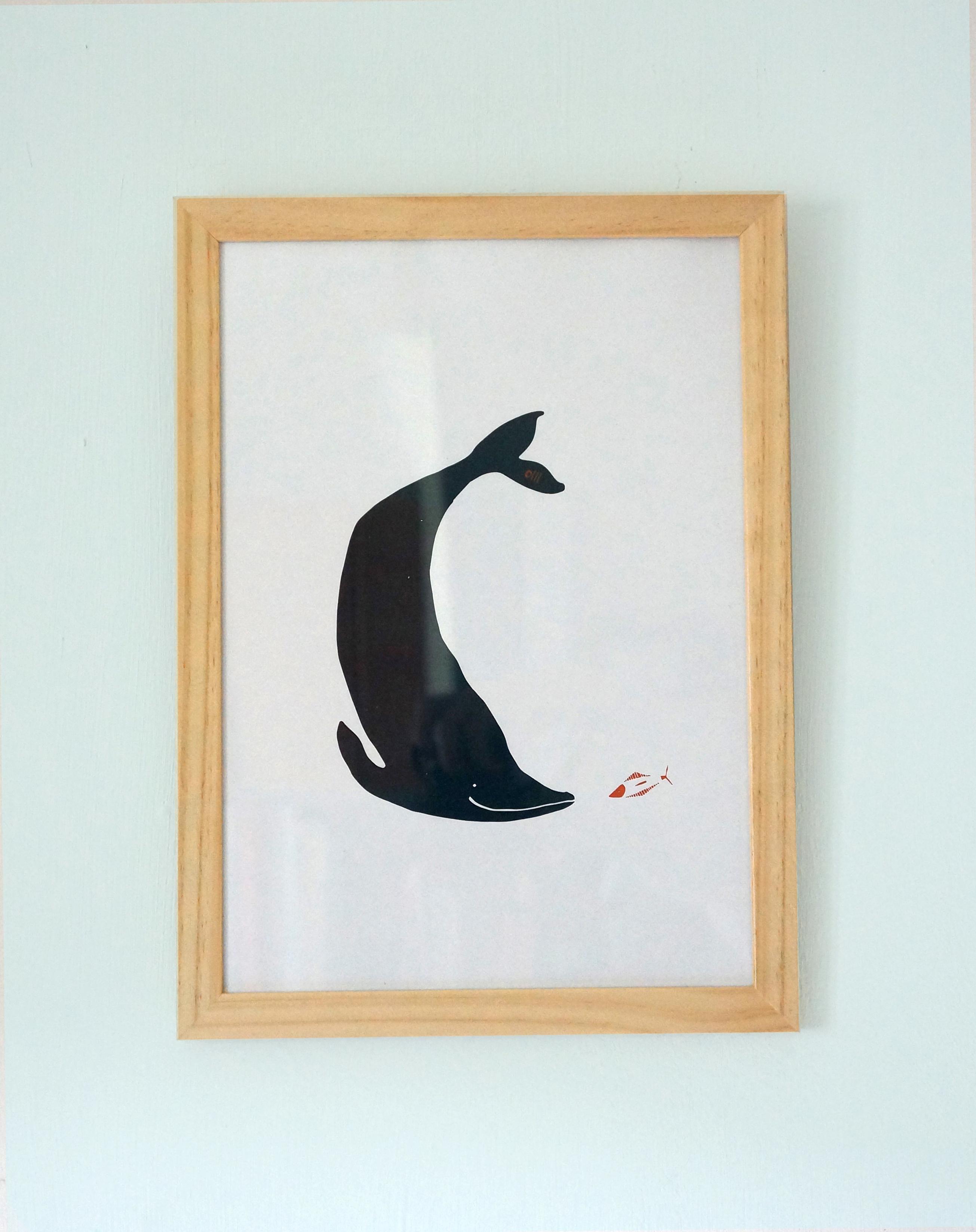 A4 Friendly whale