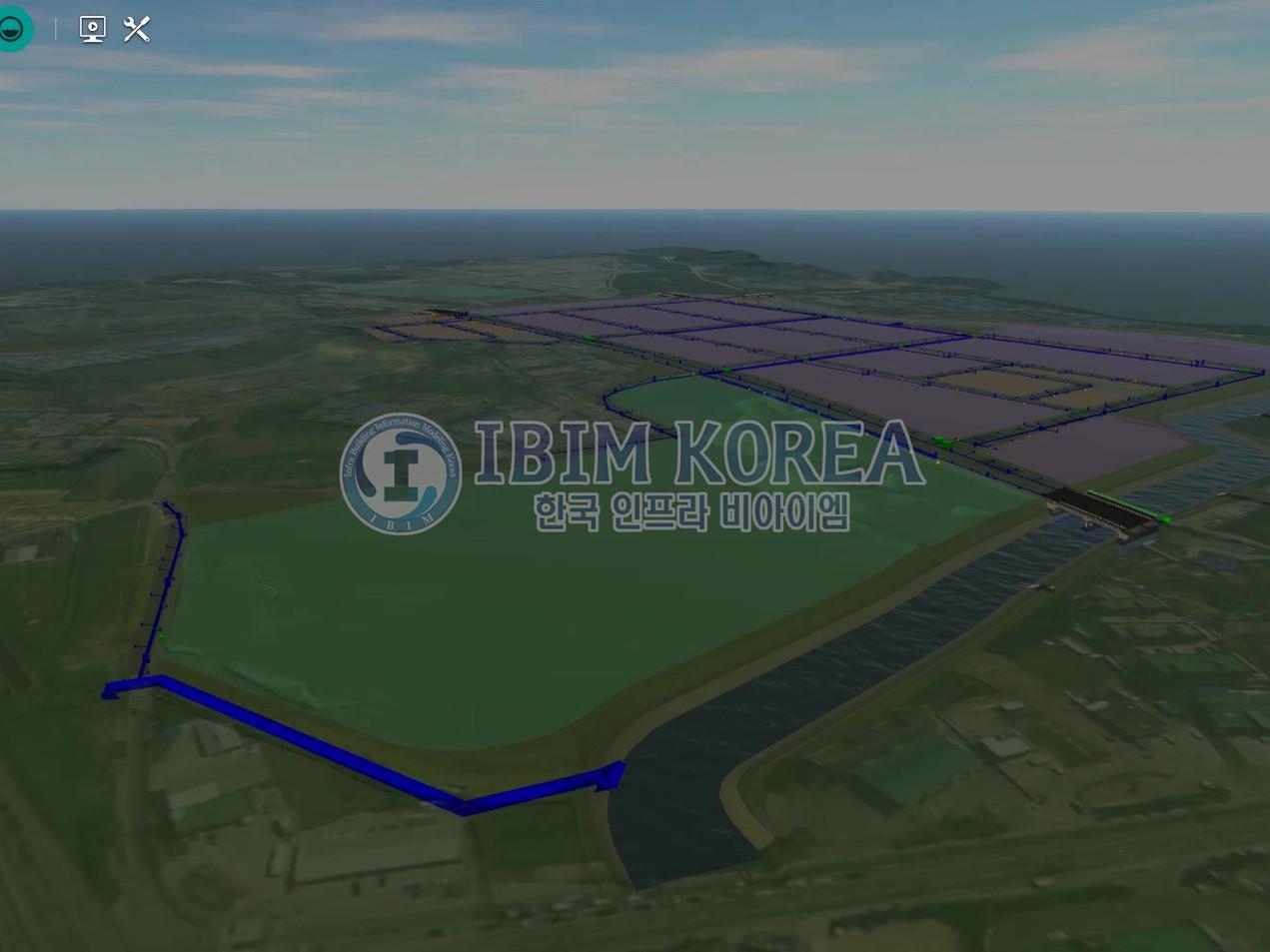 송산그린시티 남측지구 조성공사(3공구) 시공 BIM 모델링
