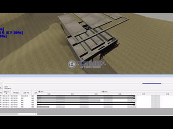 부산시 온천천 비점오염 저감 사업 중 구조물 BIM 및 공정 시뮬레이션