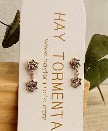 Pendiente 2 Flores
